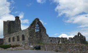 Bike tour at Creevlea Abbey in County Leitrim, Ireland