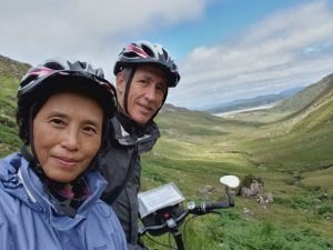 Cycling down Granny Valley, Ardara, County Donegal, Ireland, with Ireland by Bike.