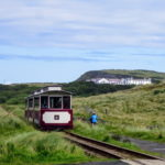 Cycling along Bushmills Heritage Railway Causeway Coast tour with Ireland by Bike Cycling holidays Ireland