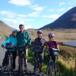 4 cyclists at Glendowan with Ireland by Bike self-guided cycling tours