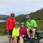 Relaxing on the cycle near Mount Errigal on a hike/bike tour with Ireland by Bike who are based in Carrick County Donegal Ireland