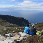 On the hike over Sliabh Liag while partaking in the Backroads and Beyond tour by Ireland by Bike
