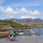 Family cycling holiday near Teelin Pier, Donegal, with Ireland by Bike Cycling Vacations