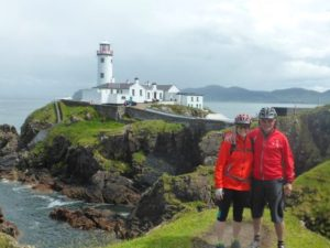 Cyclin at Fanad Lighthouse, Donegal, Ireland