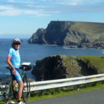 Solo cyclist Glen Head North West Grand Tour Ireland by Bike