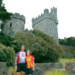Couple on Bike Tour at Glenveagh Castle, Donegal with Ireland by Bike cycling holidays