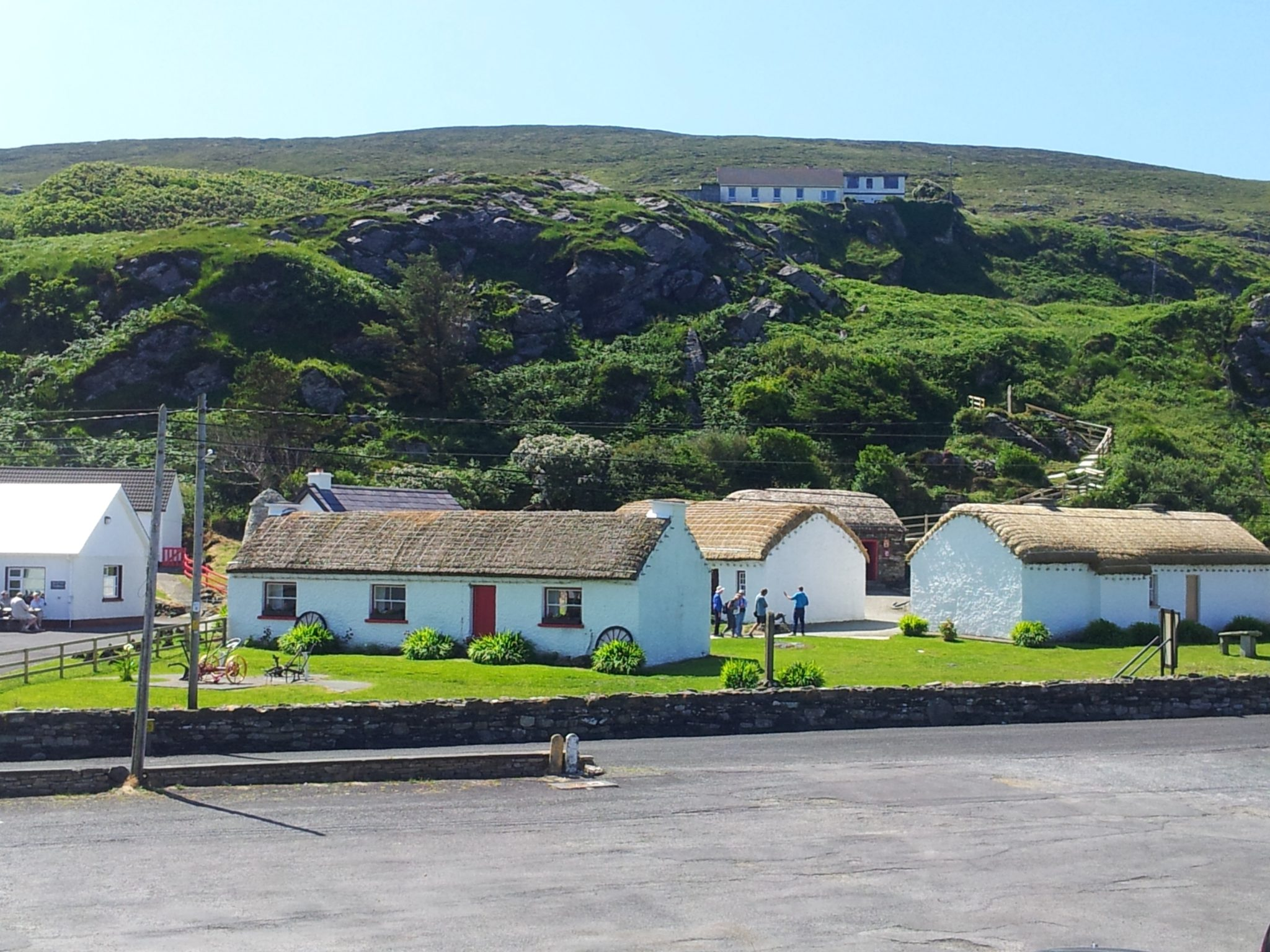 Traditional Cottages in the Glencolmcille Folk Museum. Restored as a museum and tourist attraction