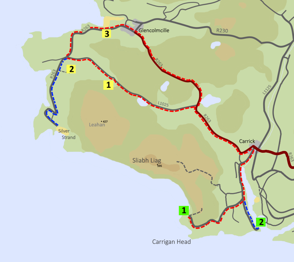 One Day E-bike tour map