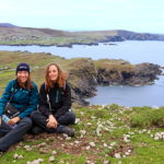 Hikers relaxing on the way from Glencolmcille to Port in Donegal, Ireland