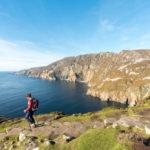 Walker on Sliabh Liag, Donegal, Ireland