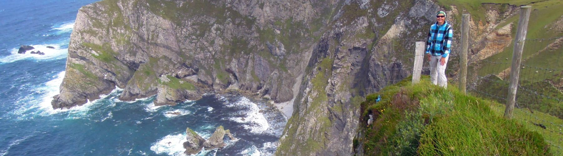 Self-guided cycling and walking tour at Glen Head, Donegal, Ireland